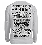 Hochwertiger Unisex Pullover - Meister der Farben - Maler und Lackierer - Malerin - Lackiererin - Tapezierer - Geschenk