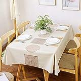 Highlyking Moderno Mantel de Vinilo de PVC, Mantel Tipo Hule Encerado, Rectangular Lavable Mantel Resistente Al Desgaste Impermeable & Rectangular para Mesa de Comedor/Jardín