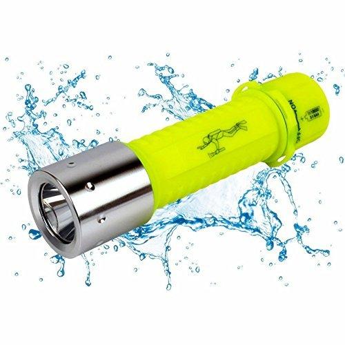 OxyLED DF20 CREE LED Tauchen Taschenlampe mit Batterie und Ladegerät, 500 LM, Unterwasser Taschenlampe Wasserdicht