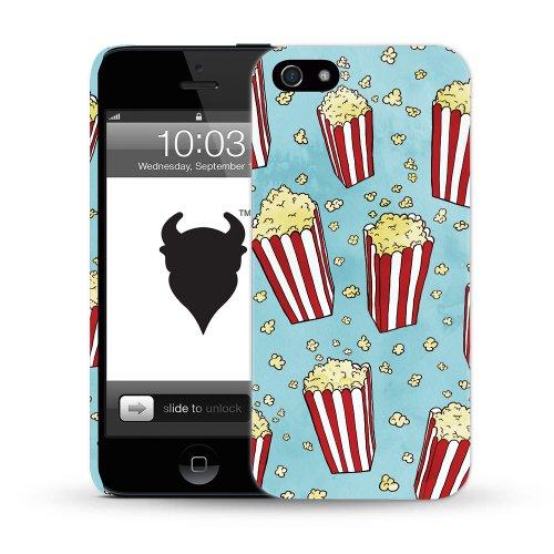 MediaDevil Grafikcase Apple iPhone 5 / 5S Hülle: Ultra Slim Edition - Blue Galaxy (Glänzend) Popcorn