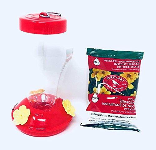 NectarBONUS Nomi Mini-Gartenfigur Kolibri, Rot, 1 Stück