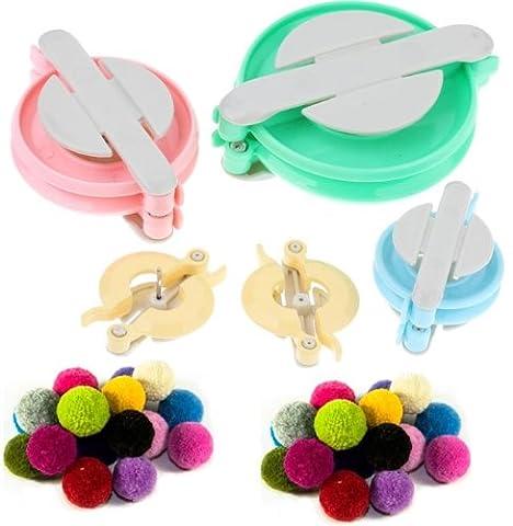 CKB Ltd® Deluxe 4 POM POM De Tissage Pour Fabriquer des Pompons Bobble Maker Pattern Yil Craft Tricot Outil loom Kit 31173