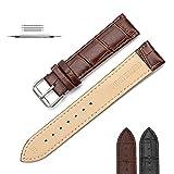 Montre bracelet en cuir vintage 18mm 20mm 22mm bracelet en cuir de montre de montre, universel pour les hommes et les femmes en cuir v¡§|ritable de peau de vache