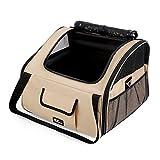 Amzdeal Faltbare Transportbox für Katzen und Hunde, Klappbare Autobox Reisebox    mit Rutschfester Unterseite und Breiter Handschlaufe, S: 38 x 28 x 21cm