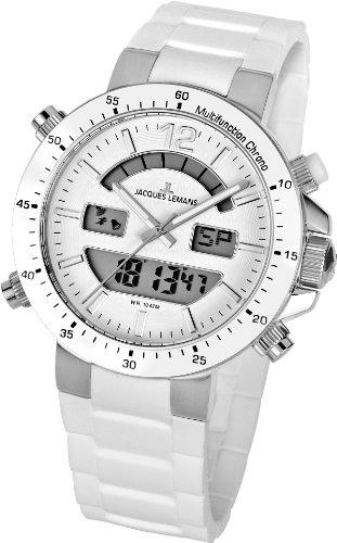 Jacques Lemans Unisex-Armbanduhr Milano Analog - Digital Silikon 1-1712B