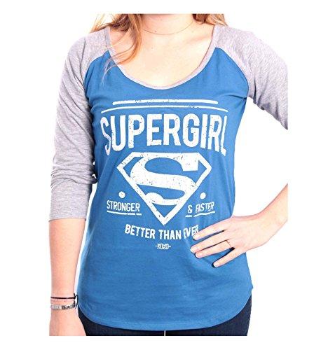 Superman Supergirl - Better Than Ever Manica lunga donna blu/grigio M