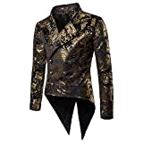 TAOtTAO Hot Gold Abendkleid Smoking Anzugjacke Mode Charme Männer Casual Fit Anzug Blazer Mantel Jacke Party Smoking Bluse (Gold, S)