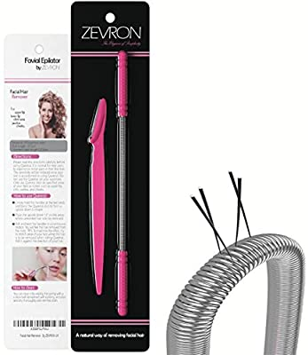 Facial Hair Remover Kit — Quick and Effective Epilator for Removing Unwanted Facial Hair — Includes Eyebrow Razor/Trimmer from ZEVRON