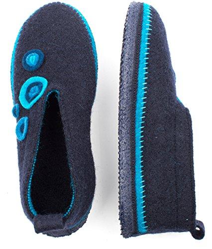 Giesswein Unisex-Erwachsene Teising Hausschuhe Blau (Ocean)