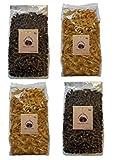 4x PALEO Nudeln Kohlenhydraten-reduzierte Pasta GLUTENFREIE Nudeln Gourmet Delikatesse 4x 250g (2x Leinsamenmehl - 2x Sesammehl)