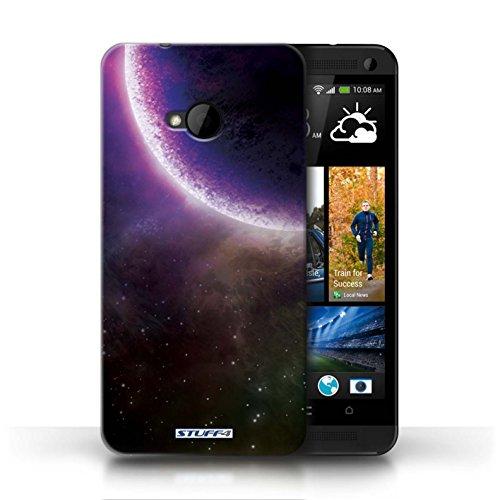 Kobalt® Imprimé Etui / Coque pour HTC One/1 M7 / Planète Pourpre conception / Série Cosmos Éclipse Pourpre