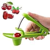 Nifogo Cerise et Olive Pitter, Dénoyauteur de Cerises, Raisins et Cranberries Fruit Corer Pitter Extracteur de Cuisine Tool-Apple Green (Vert)