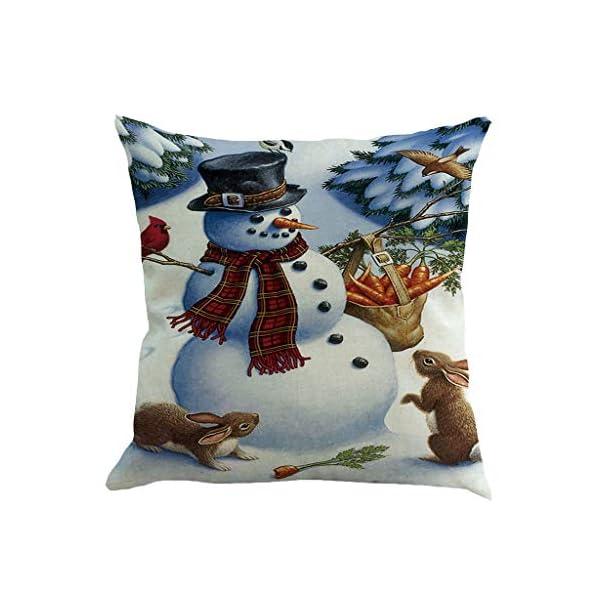 IJKLMNOP Christmas Pillow Square Pillow Case Lino Mat 45x45cm es Adecuado para oficinas, Casas, automóviles, cafeterías… 6