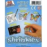 Shrinkles Shrink Art, Shrink Plastic - Large Pack of 50, 101x131mm - Crystal Clear