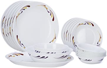 Corelle India Impressions Celebration Dinner Set,21 Pcs