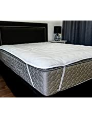 Rajasthan Crafts Microfiber Water Resistant and Dustproof King Size Mattress Protector(White, 78x72-inch)