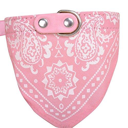 (URIJK Haustier Hunde Halsbänder Einstellbare Hundewelpen Bandana Kragen Schal Halstuch Halskette Hund Dekoration(Muster Zufällig))