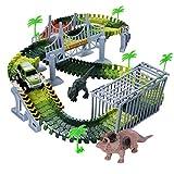 Dreamingbox Jouet Garcon 4-10 Ans, Dinosaure Circuit Voiture pour Enfant Jouets pour Fille de 4-10 Ans Cadeau de Noel pour Garçons de 3-8 Ans Cadeau de Noel Fille 3-10 Ans Cadeau de Noël Enfant