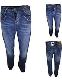 meltin pot jeans uomo manish W30L34 diritto regular fit largo azzurro vita  alta 1954646c923