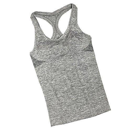 Baymate Damen Bh-Hemd Unterhemd Mit Integriertem Bustier Grau S