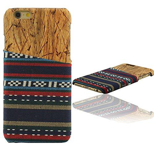 Naturale Wood Legno Grano, Maglione Stoffa Aspetto, iPhone 6 Plus Custodia, iPhone 6S Plus Custodia, Copertura per iPhone 6 Plus 6S Plus, Case 5.5 Pollice (non includere liPhone 6 4.7 pollici) D