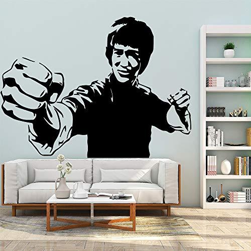 Schöne Bruce Lee Kung Fu Wasserdichte Wandaufkleber Steuern Dekor Kinderzimmer Dekor Kunst Abziehbilder Jungen Schlafzimmer Dekor A12 43 * 58 CM