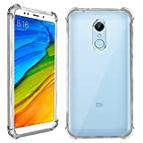 #2: Jkobi® Silicon Flexible with Protective Shock Proof Corner Transparent Back Case Cover For Xiaomi Redmi Note 5 -Transparent