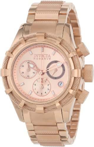 Invicta Women's 40mm Pink Steel Bracelet & Case Flame-Fusion Crystal Swiss Quartz Chronograph Watch 12460