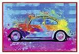 Close Up Splash Buggy Beetle Poster Parker Greenfield (63,5x94 cm) gerahmt in: Rahmen Rot