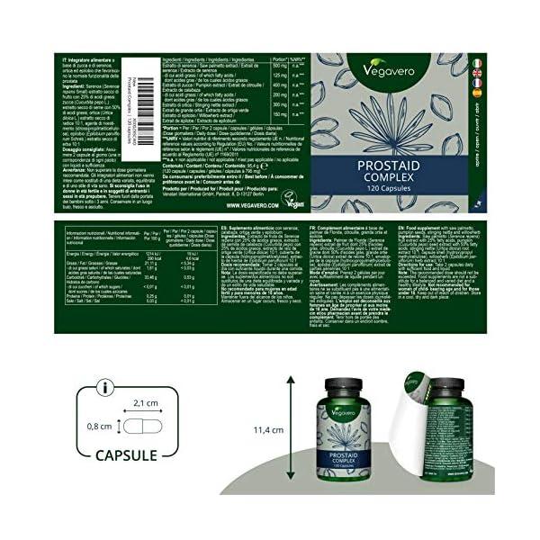 Integratore PROSTATA Vegavero® | 180 capsule | L'UNICO con Saw Palmetto al 80% di ACIDI GRASSI | con Serenoa Repens… 2 spesavip