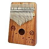 SSeir Principianti 17 Chiavi Thumb Piano, Portatile Finger Piano Strumento Musicale con Istruzione di Studio e Tune Hammer, per Bambini Adulto,8