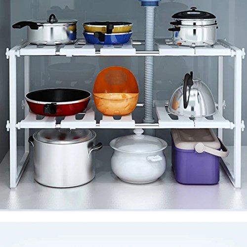 yomym-estantera-Bajo-fregadero-estante-ajustable-almacenaje-organizacin-para-cocina-mueble