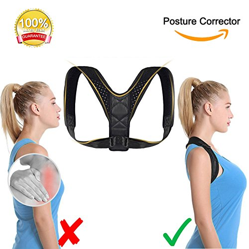 Only1MILLION PILAAIDOU Back Posture Corrector, Adjustable Sports Posture Corrector, Corrects Poor Posture Prevent hunchback, Relieve Back Discomfort - Physical Therapy Posture Brace Teenagers