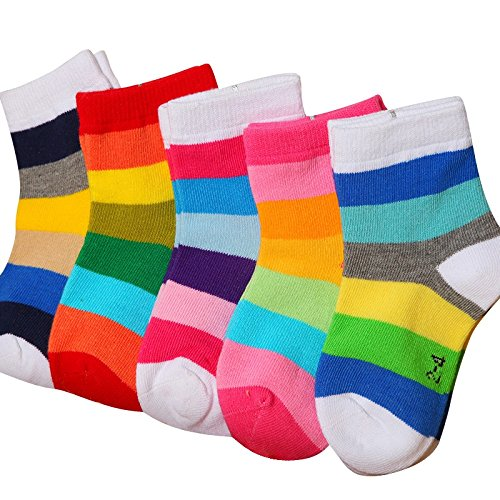 FOOTPRINTS Cotton Socks for Baby (Multicolour, 3-5 Years) – Pack of 5