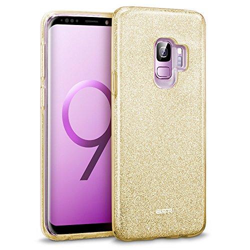 ESR Glitzer Hülle kompatibel mit Samsung Galaxy S9, Sparkle TPU Schutzhülle, 3-Schicht, Kabelloses Laden kompatibel, Handyhülle kompatibel mit Galaxy S9 5,8