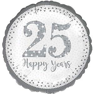 Amscan International-3594201brillante 25th aniversario Foil Globos