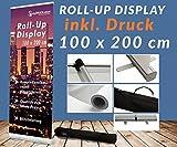 Roll up Display 200cm Werbebanner Digitaldruck Roll-UP Werbedisplay Werbeständer Werbung Ständer Aufsteller 12A03_2, Roll up Größe:85cmx200cm;Designerstellung:ja