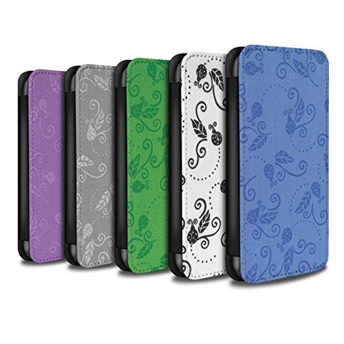 Stuff4 Coque/Etui/Housse Cuir PU Case/Cover pour Apple iPhone SE / Rouge Design / Motif Coccinelle Collection Pack (9 pcs)