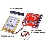 MakerHawk Raspberry Pi Erweiterungskarte DIY Power Pack mit Lithium-Batterie Kit Pro Update