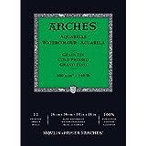 Arches Bloc Aquarelle Grain Fin 26 X 36 Cm 300 G 12 Pages Naturel Blanc