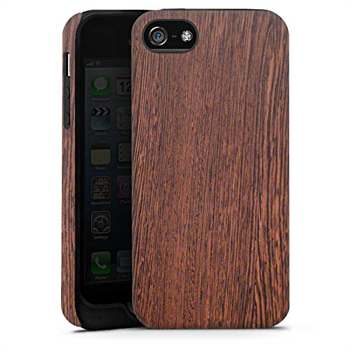 Apple iPhone 4 Housse Étui Silicone Coque Protection Noisetier Look bois Sol en bois Cas Tough terne