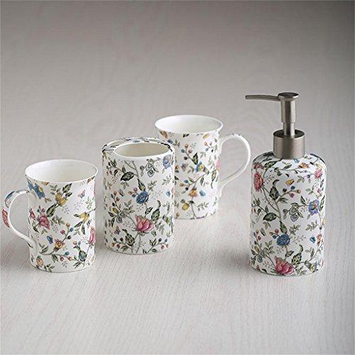 Creative Light-Baño conjunto, 4 piezas de porcelana de hueso Creatividad material de lujo, accesorios de baño Conjunto
