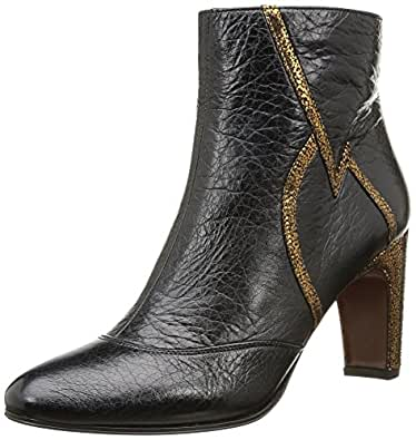 Chie Mihara Omai, Boots femme - Noir (Happy Negro/Mad Bronce), 37.5 EU