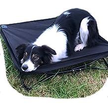 Glenndarcy - Cama Acolchada para Perro, elevada, portátil, Plegable, Ideal para Acampada