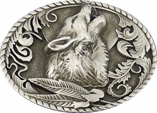 Buckle Gürtelschnalle Gürtelschließe Westernbuckle Heulender Wolf (Gürtelschnalle Wolf)