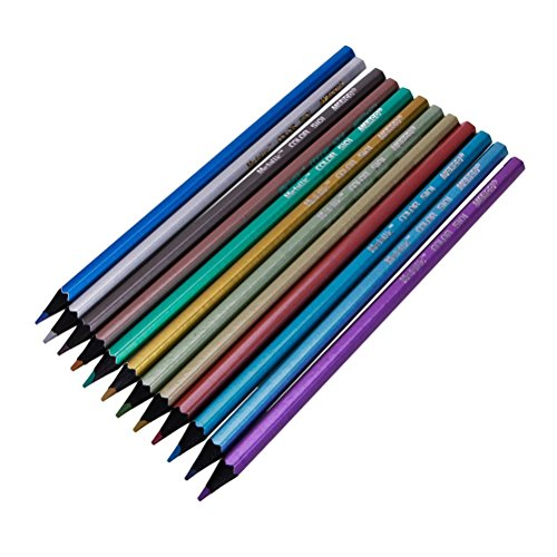 PIXNOR Kunst gefärbt Bleistifte Zeichnung Bleistifte für Künstler Skizze Malbuch - 12 Farbe (Bleistifte Gefärbt Qualität)