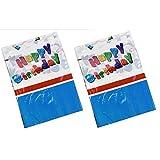 2x Party-Tischdecke Happy Birthday abwaschbar 130x180cm Geburtstag Kinder