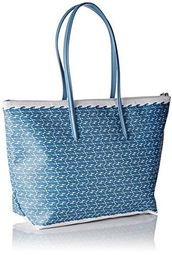 Lacoste Damen Nf1720cx Umhängetaschen, 30 x 14 x 35 cm BLUE CROC (Blue Croc)