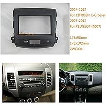 autostereo 08–004–Kit de montaje para radio de coche Citroen C-Crosser Mitsubishi Outlander XL Peugeot 4007Marco Embellecedor de doble DIN panel de radio para radio de coche,