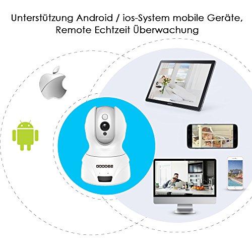 GooDee 720P HD P2P drahtlose IP Kamera 2.4GHz Wlan/Wifi Babyfon Indoor Heim Home Security Überwachungskamera(mit deutscher App 15m Nachtsicht - 4